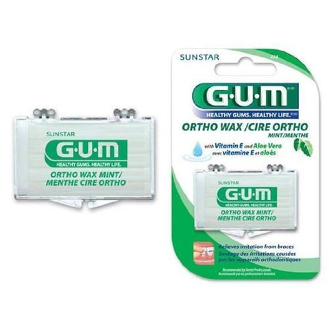 GUM ORTHODONIC MINT WAX 1EA