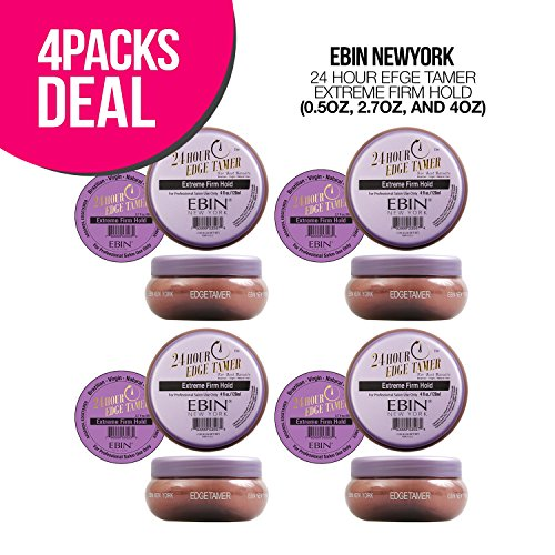 EBIN New York 24 Hour Edge Tamer 4oz, Options and Quantities Available (4 PACK, Extreme Firm Hold)