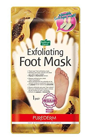 Purederm Exfoliating Foot Mask - Peels Away Calluses and Dead Skin in 2 Weeks! (10 Pack (10 Treatments), Regular)