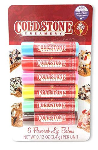Cold Stone Creamery 6 Pack Flavored Lip Balms