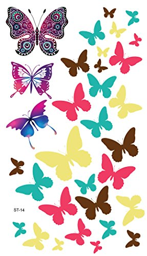 Supperb Temporary Tattoos - Colorful Butterflies, Christmas Temporary Tattoo