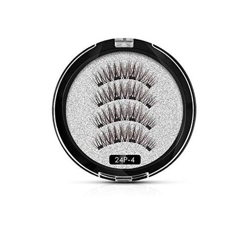 Eyelashes False Eyelashes 3D/6D Natural Lengthening Makeup 20 Pair Magnets lashes Upper With Gift Box,10set MB26P-4