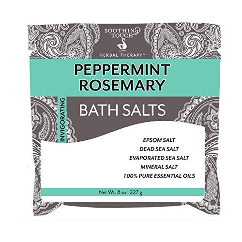 Soothing Touch Bath Salts Pouch, Peppermint Rosemary, 8 Ounce