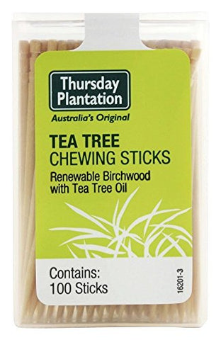 Thursday Plantation Natural Chewing Sticks Original Tea Tree 100 Sticks