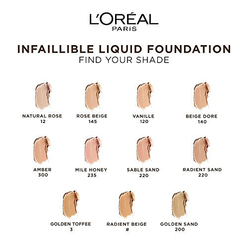 L'Oreal Paris Infallible 24H Foundation, 235 Honey, 30 ml