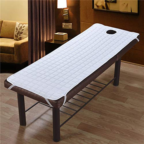 2pcs Beauty Cosmetic Salon Massage Bed Mattress Sheet Heat Massager Pillow Massage Head, 180x60cm White/Grey