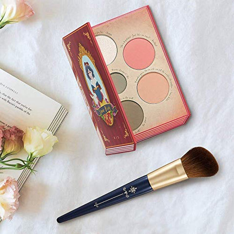 BEST CONTOUR and BLUSH SET - Snow Bright Contour Highlight Blush Makeup Palette1 with Angled Blush Brush1 by Ready to Shine