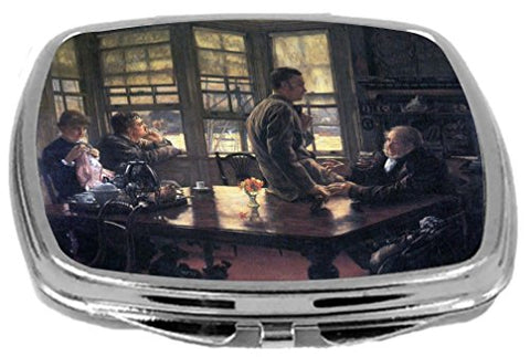 Rikki Knight Compact Mirror, James Tissot Art The Prodigal Son in Modern Life - The Farewell, 3 Ounce