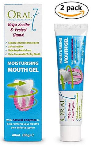 Oral7 - Dry Mouth Moisturizing Mouth Gel Containing Enzymes, 1.6 Ounces (2-Pack)