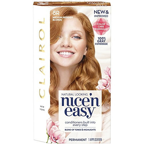 Clairol Nice'n Easy [8R] Medium Reddish Blonde Permanent Hair Color 1 ea