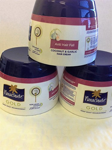 Parachute Gold Coconut & Garlic Hair Cream 140ml(pack of 3) -Anti Hair Fall