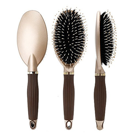 Elephbaby Boar Bristle Paddle Hair Brush?Detangling Brush for Straightening &Smoothing Hair,For Thick, Fine, Thin, Wet,Wavy, Straight, Long, or Short Hair