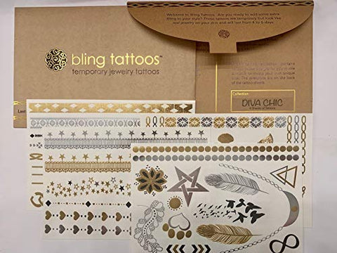 Bling Metallic Tattoos - Flash Tattoo Inspired Sensational Collection