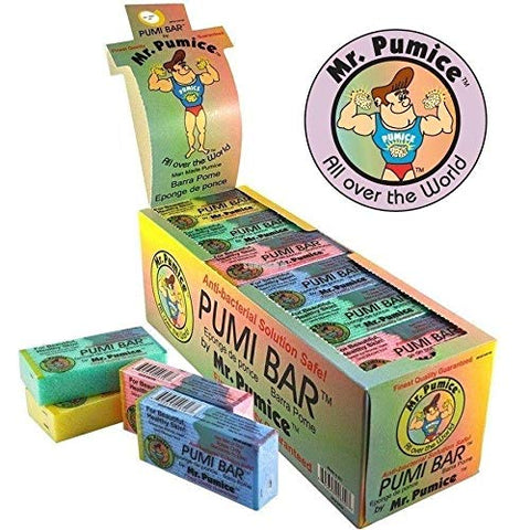 Mr. Pumice Pumi Bar (Single, Assorted Colors): Medium-Grit Callus Remover, Pedicure Stone & Ped File Scrubber For Smooth Feet and Heels