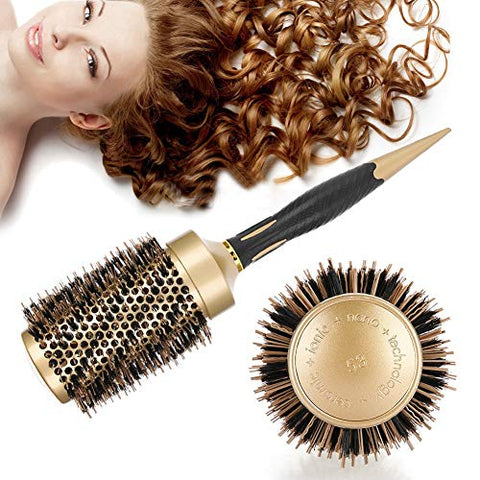 Hair Round Comb Twill Nylon Broach Salon Styling Brush, Hair Care Professional Hairdressing Tools Round Brush, for Women Men and Women(53)