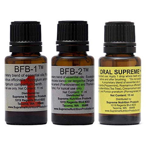 Supreme Nutrition Biofilms Three Pack - BFB-1, BFB-2 and Oral Supreme