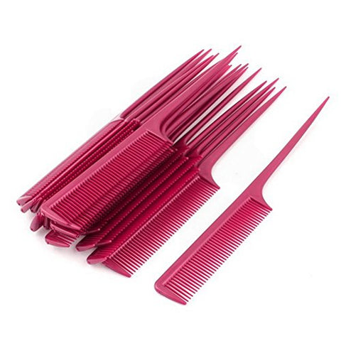 Plastic Hairdressing Fine Toothed Pointed Hair Styling Rat Tail Combs 20pcs by Uptell