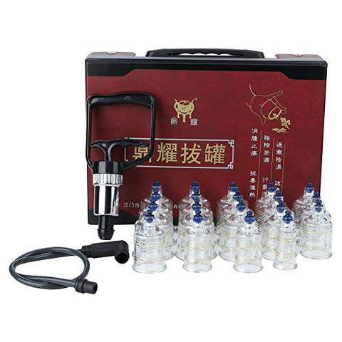 Cupping Cups Set, Chinese Traditional Cupping Tool Set, Qi and Body Circulation, Swelling and Pain Relief, Promote Meridian Smoothness, Dispelling Cold, Dehumidification