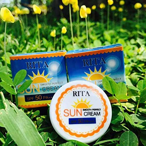 Rita Sun Cream Smooth Perfect Sunscreen Protection SPF 50 PA +++ Sunscreen 5g (5 box)