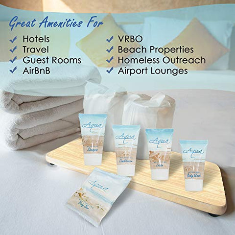 Aqua Organics | 1-Shoppe All-In-Kit | Hotel Size Amenities Set | Hotel/AirBnB/VRBO/Vacation Rental Soap Set | (150 pcs)