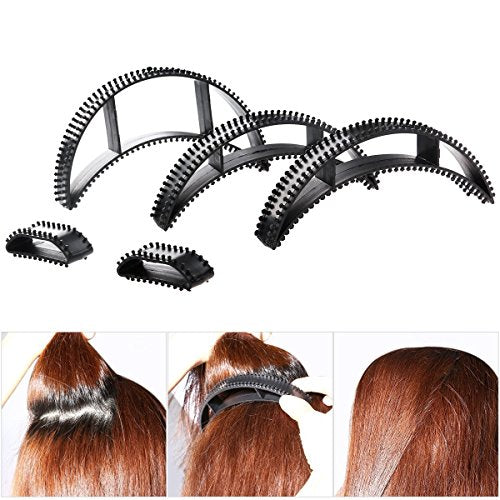 107Pcs Hair Styling Accessories Kit Set DIY Hair Styles Bun Maker Hair Braid Tool Making Black Magic Hair Twist Styling Accessories for Girls or Women