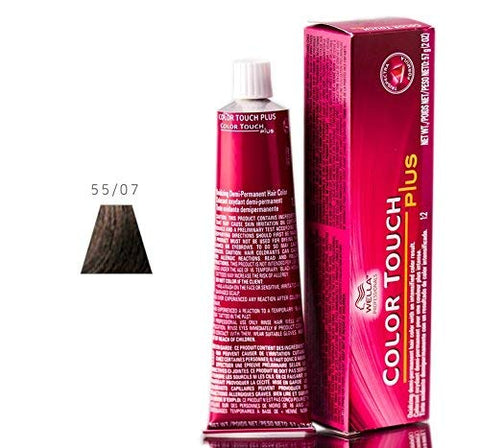 Wella Color Touch Plus Demi Permanent Color   55 07 Intense Light Brown Natural Brown By For Unisex