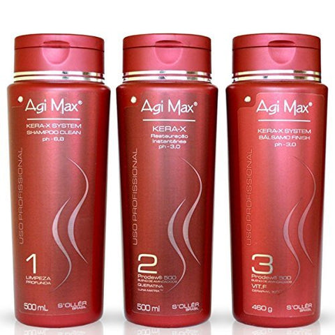 Agi Max   Kera X System Progressive Brush Kit   (3x) 500ml / 16.91oz
