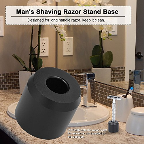 Anself Man's Shaving Razor Stand Base Long Handle Razor Stand Holder for Safety Shaving Razor