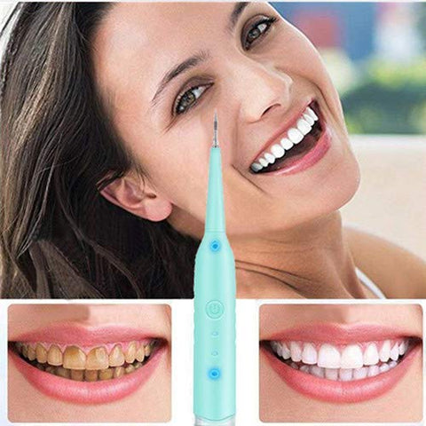 Waterproof Dental Calculus Remover, Portable Tartar Plaque Remover Electric Tartar Scraper Tooth Cleaning Device with LED Light for Oral Care