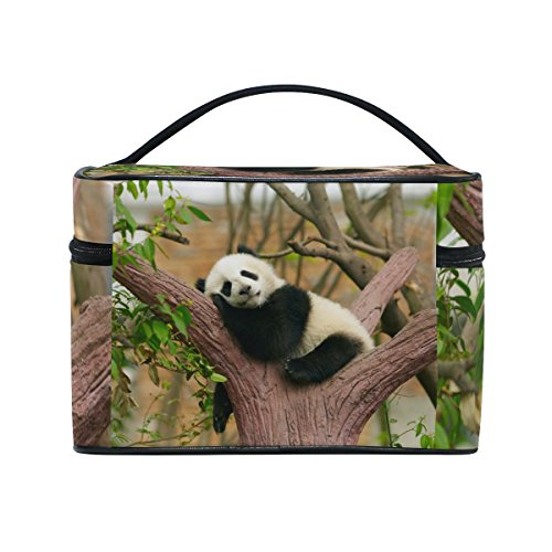 Cooper girl Sleeping Panda Baby Cosmetic Bag Travel Makeup Train Cases Storage Organizer