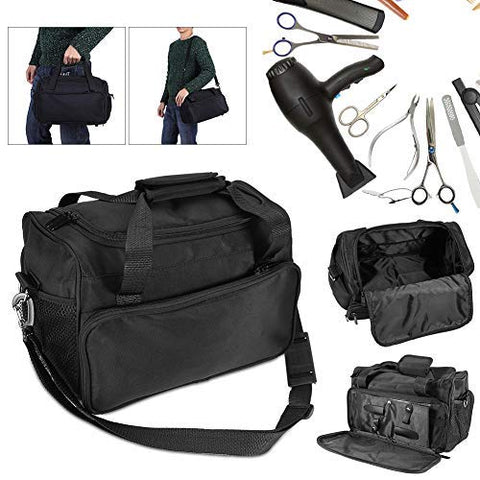 Hairdressing Tools Bag, Professional Multi-functional Salon Barber Handbag Cosmetics Hairdressing Bag Portable Scissors Comb Holder Bag Hairstyling Case Toiletry Organizer