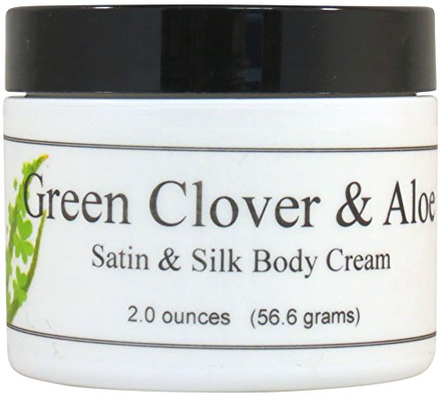 Green Clover And Aloe Satin and Silk Cream, Body Cream, Body Lotion, 2 oz