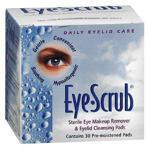 Eye Scrub Sterile Eye Makeup Remover and Eyelid Cleansing Pads by Eye Scrub