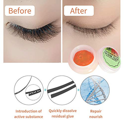 DAGEDA Professional False Eyelashes Remover Cream Watermelon Flavor, Quickly and Gently Dissolve Eyelash Glue Without Irritation, Can Quickly Clean Eyelashes