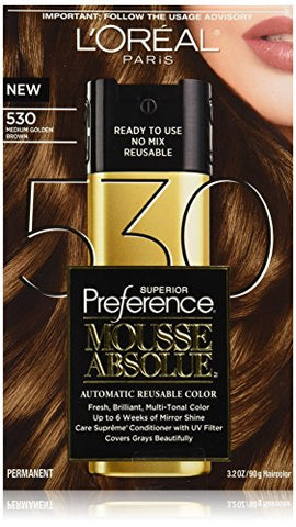 L'Oreal Paris Superior Preference Mousse Absolue, 530 Medium Golden Brown