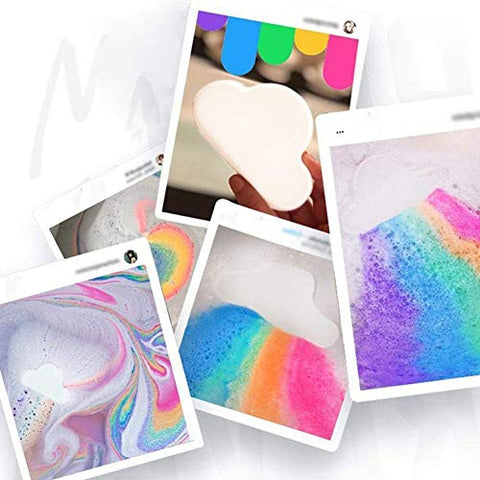 Natural Skin Care Cloud Rainbow Bath Salt Bath Bombs BallExfoliating Moisturizing Bubble
