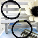 Image of Polytree 10Pcs Black Hair Elastics Hair Ties Hair Bands Bulk Ponytail Holders