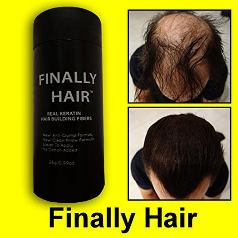 Hair Building Fibers White Hair Loss Concealer Fiber 28 Gram .99oz Refillable Bottle by Finally Hair (Off White)