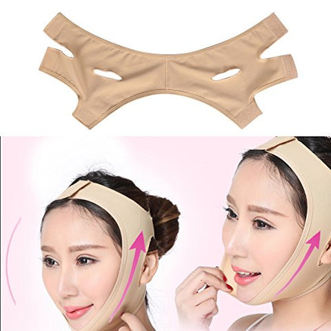 Face Lift Mask,Facial Slimming Belt Face Lift Up Thin Neck Mask Sleeping Anti Wrinkle Beauty Tool Reduce Double Chin Bandage Breathable Lifting Face Belt (M)