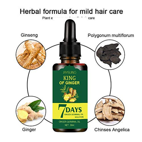 Ofanyia Ginger Hair Growth Serum Refreshing Oil Control Hair Loss Treatment Hair Regrowth EssenceFor Men And Women Thicker Healthier Hair Care