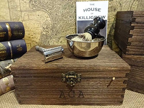 Gentlemen's Old World Shaving Kit - (Herringbone, The Hunt) unique mens gifts mens anniversary gifts for men christmas shaving gifts