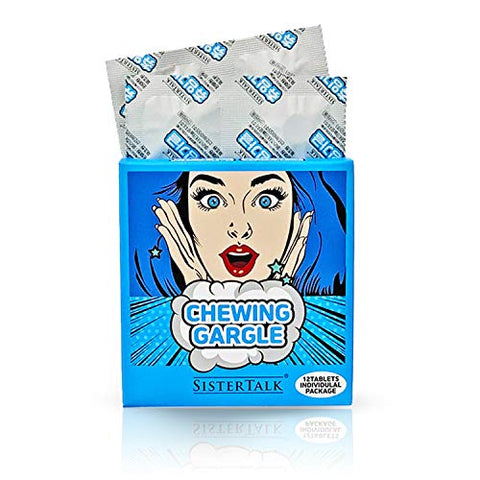Korean Mouthwash Toothpaste Tabs Chewable Chewing Gargle Breath Refresher 12 Tablets Individual Packing (ICE COOL Flavor)