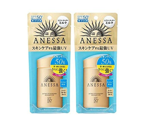 Shiseido Anessa Perfect Uv Sunscreen Skincare Milk Spf50+/Pa++++ 60m L / 2oz (Set Of 2)