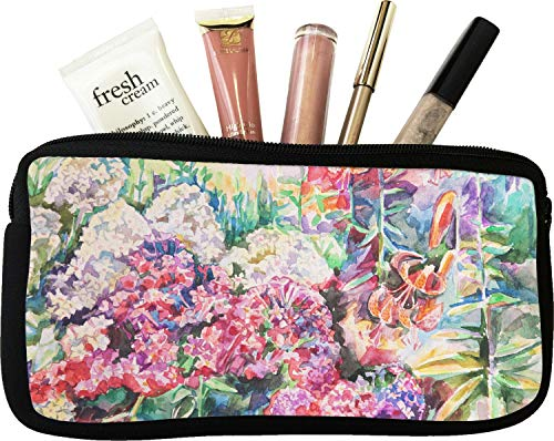 Watercolor Floral Makeup/Cosmetic Bag - Small
