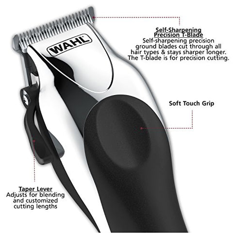 Wahl Clipper Combo Pro, Complete Hair And Beard Clipping And Trimming Kit, Includes Quality Clipper
