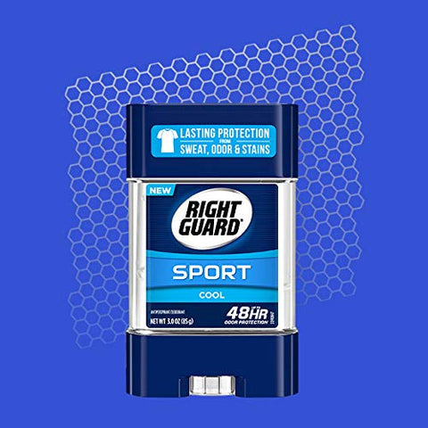 Right Guard Sport Antiperspirant and Deodorant, Clear Gel, Cool, 3 Ounce (Pack of 12)