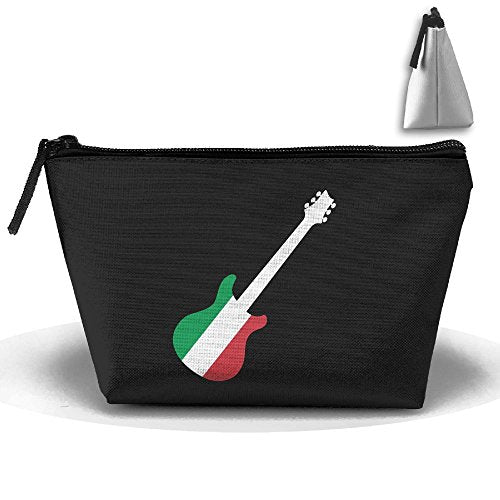 SWEET-YZ Italian Flag Guitar Cosmetic Bags Travel Storage Pouch Makeup Organizer