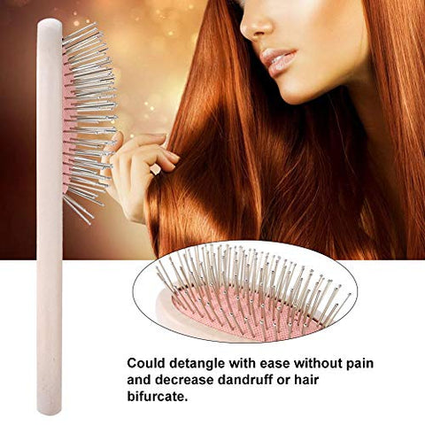 Mavis Laven Oval Hair Comb Wet Hair Brush Massaging Detangling Brush for Long Curly Hair