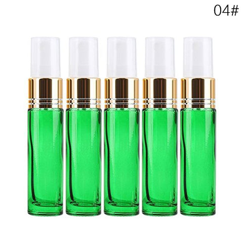 5Pcs 10ml Empty Spray Bottle - Travel Small Empty Perfume Bottles Mini Liquid Essential Oil Cosmetic Container