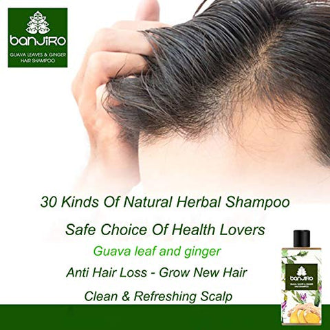 Herbal Spa Hair Regrowth Anti Hairfall Shampoo Herbal Hydrating Prevent Hair loss With Treatment Natural Guava Leaves and Ginger Extracts 250 ML